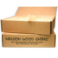Nelson Wooden Shims -120 pieces per box