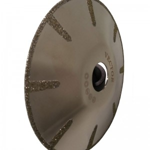 """Vector Marble Electroplated Contour Blade 5"""""""