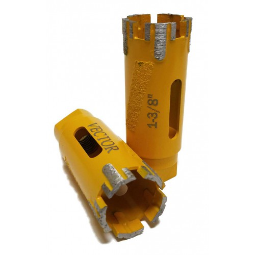 Vector Yellow Dry Core Bits