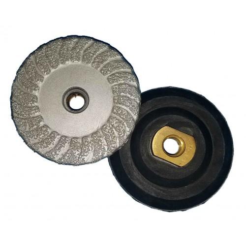 """Vector Vacuum Brazed Cup Wheels w/ Rubber Backer - 4"""""""