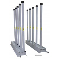 """Groves Bundle Rack- includes (2) 5' Rails and (10) 2"""" Square Tube Posts (4-W60)"""