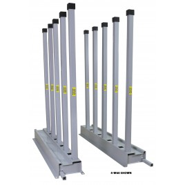 "Groves Bundle Rack- includes (2) 5' Rails and (10) 2"" Square Tube Posts (4-W60)"