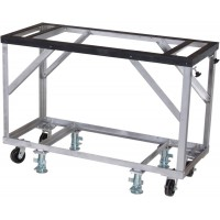 """Groves Fabrication Table 60"""" Long x 25"""" Wide x 42"""" High - Includes 5"""" Casters and Adjustable Foot Locks"""