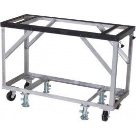 "Groves Fabrication Table 60"" Long x 25"" Wide x 42"" High - Includes 5"" Casters and Adjustable Foot Locks"
