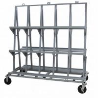 "Groves Heavy Duty Backsplash Cart 84""x 42""x 84"" (77.5"" x 10"" shelf)"