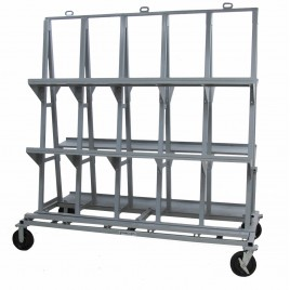 "Groves Heavy Duty Backsplash Cart 84""x 42""x 84"" (77.5"" x 10"" shelf)"