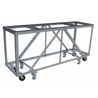 """Groves Heavy Duty Fabrication Table ( 84"""" Long x 24"""" Wide x 43"""" High with four 5"""" Swivel Casters and four Foot Locks"""
