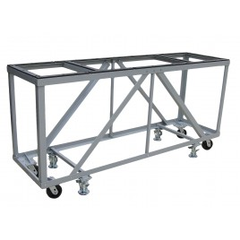 "Groves Heavy Duty Fabrication Table ( 84"" Long x 24"" Wide x 43"" High with four 5"" Swivel Casters and four Foot Locks"