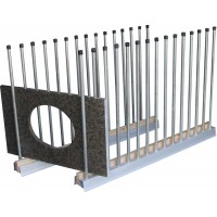 """Groves Remnant Rack 6"""" wide x 3"""" high x 60"""" long, 30 poles"""