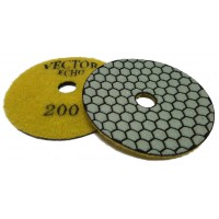 Vector Echo Dry Polishing Pads 4 Inch 200 Grit