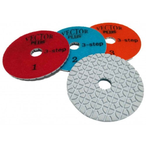 "Vector Plus 3 Step Wet Pads - 4"" Circle Pattern"