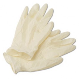 Radnor White Latex Disposable Gloves