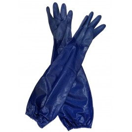 Long Blue Gloves with Sleeve Small